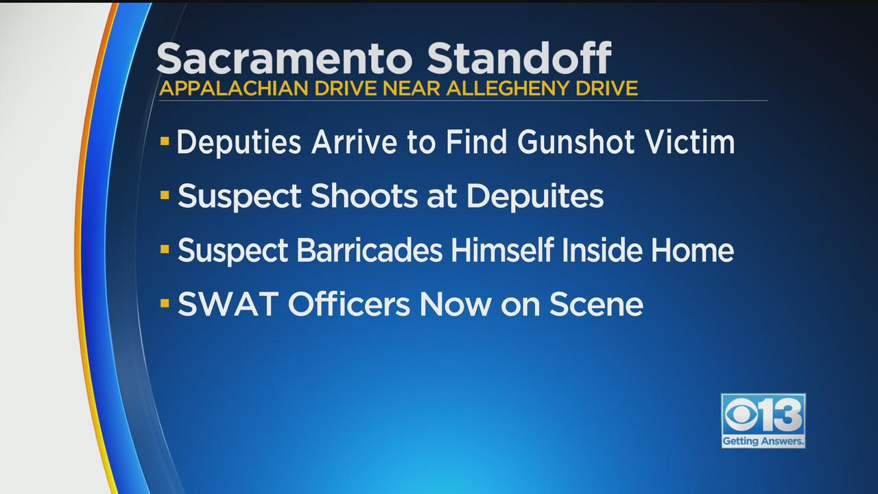 Man Accused Of Shooting At Sheriff's Deputies At Center Of Sacramento Standoff