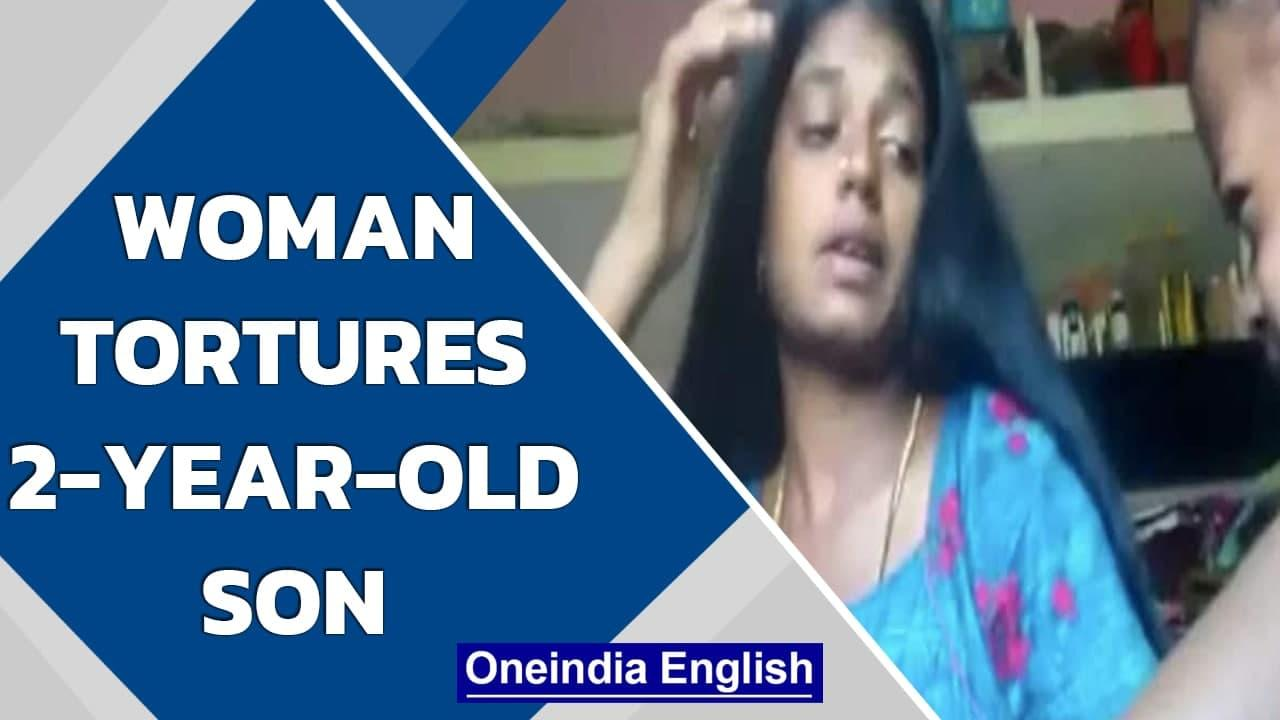 Tamil Nadu: 23-year-old woman is arrested for allegedly torturing her 2-year-old son | Oneindia News