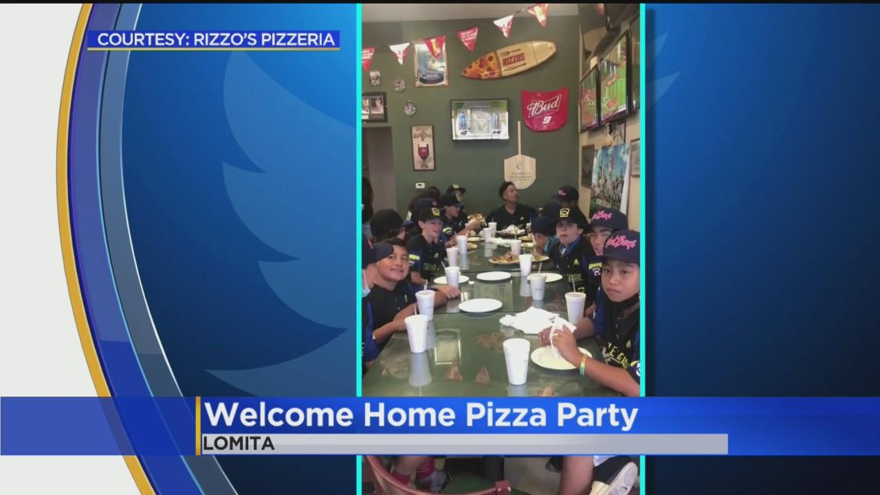 'Welcome Home' Pizza Party Held For Torrance Little League Team