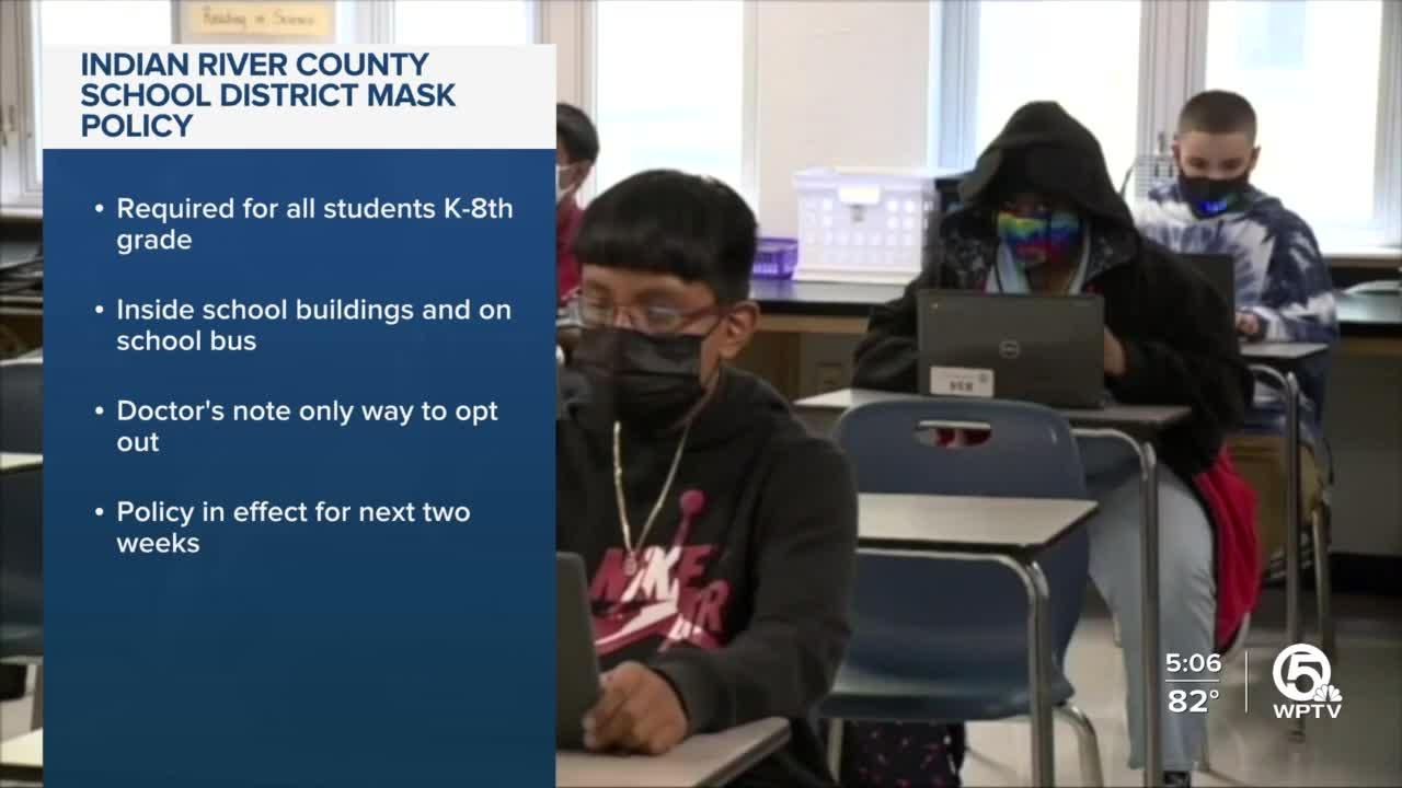 Indian River County schools begin mask mandate as outbreak shuts down elementary school