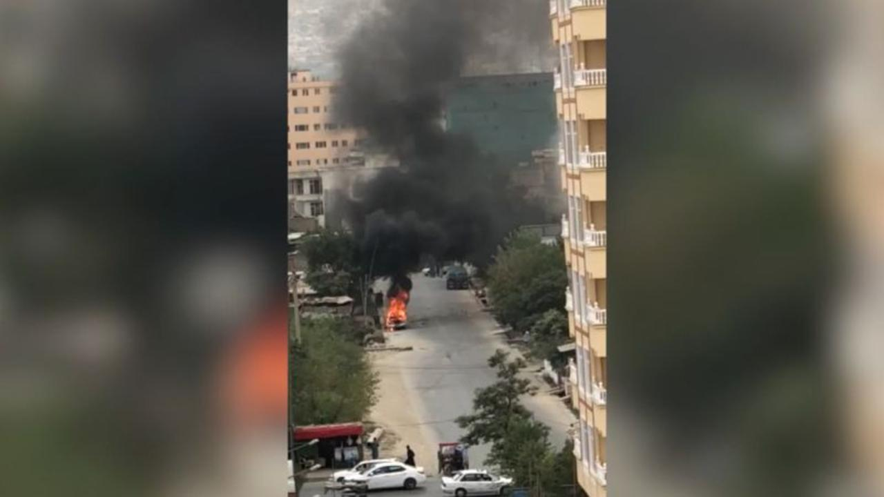 Footage shows car used as rocket launcher at Kabul airport