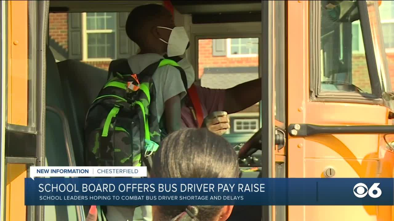 Chesterfield raises pay for bus drivers