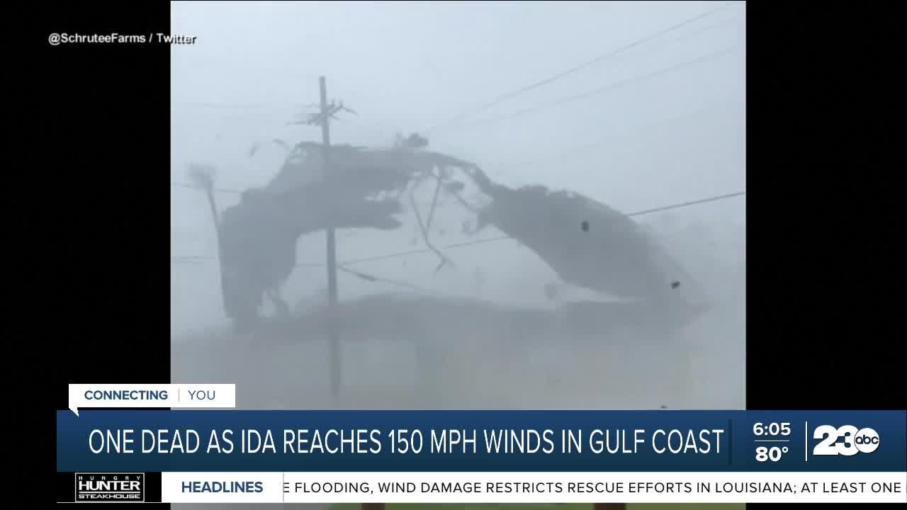 One dead as Ida reaches 150 mph winds in Gulf Coast