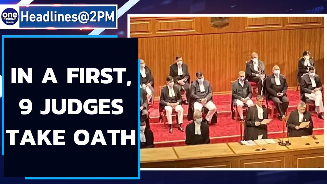In a first, 9 Supreme Court judges take oath in one go | Oneindia News