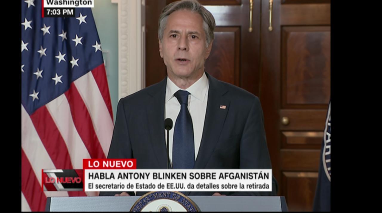 Nuestra misión militar en Afganistán termina, comienza una misión diplomática, dice secretario de Estado de Estados Unidos