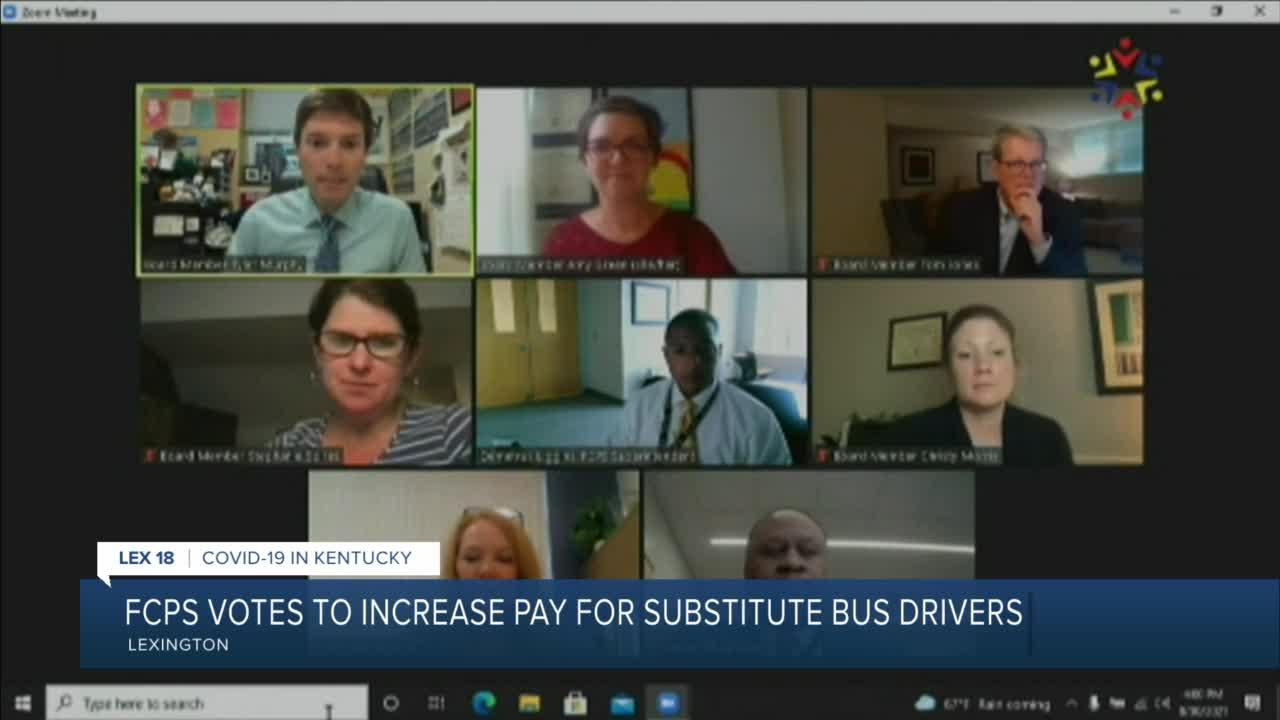 FCPS votes to increase pay for substitute bus drivers