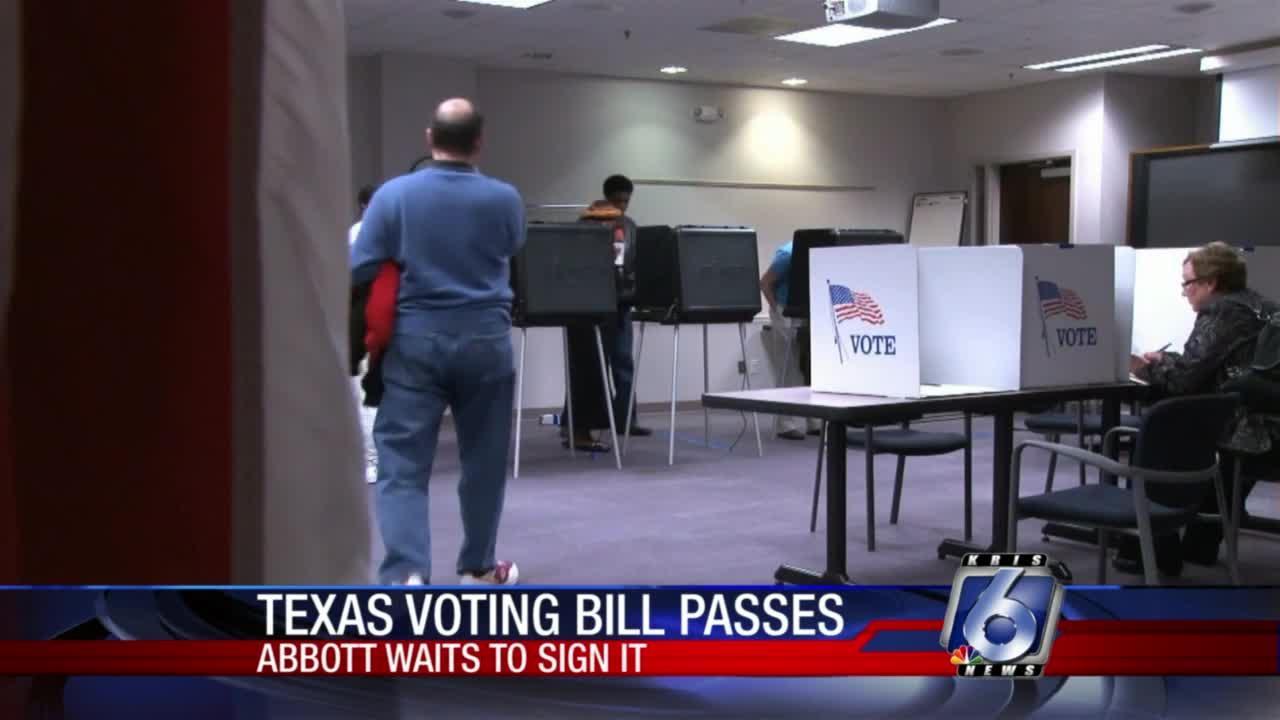 Republican bill tightening Texas election laws is headed to Gov. Greg Abbott's desk