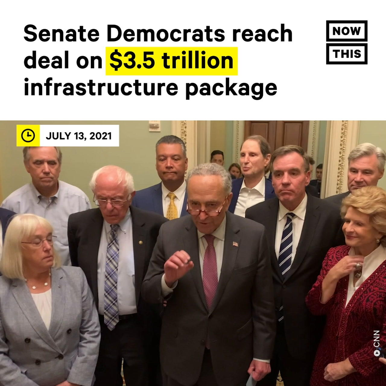 Senate Dems Reach Deal on $3.5T Infrastructure Package