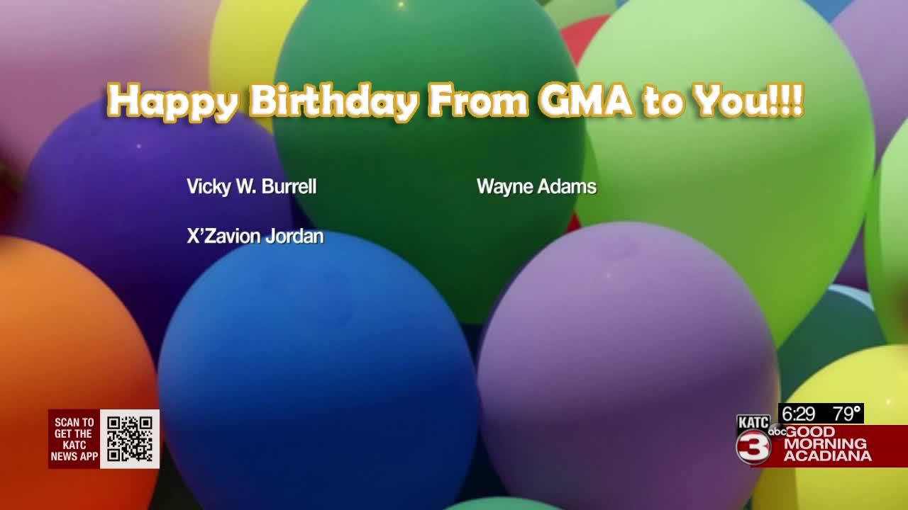 Today's birthdays  9/01/2021