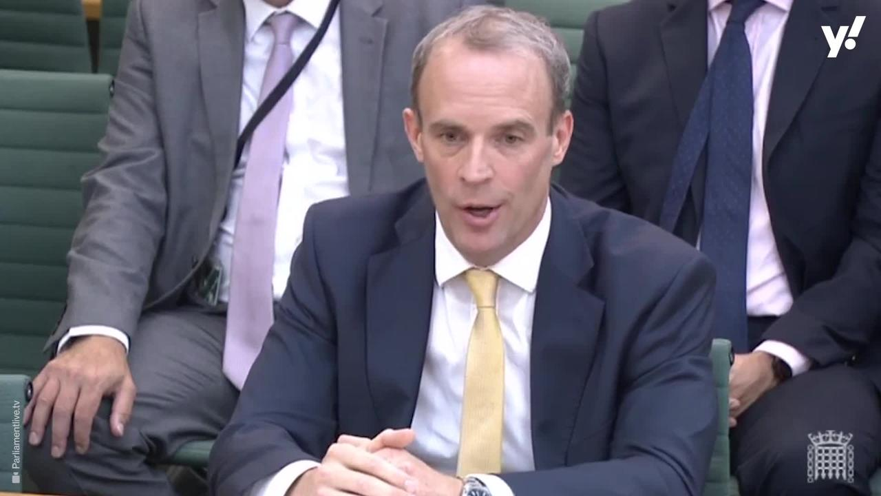 Excruciating moment Dominic Raab refuses to say if he was on luxury holiday as Afghanistan fell