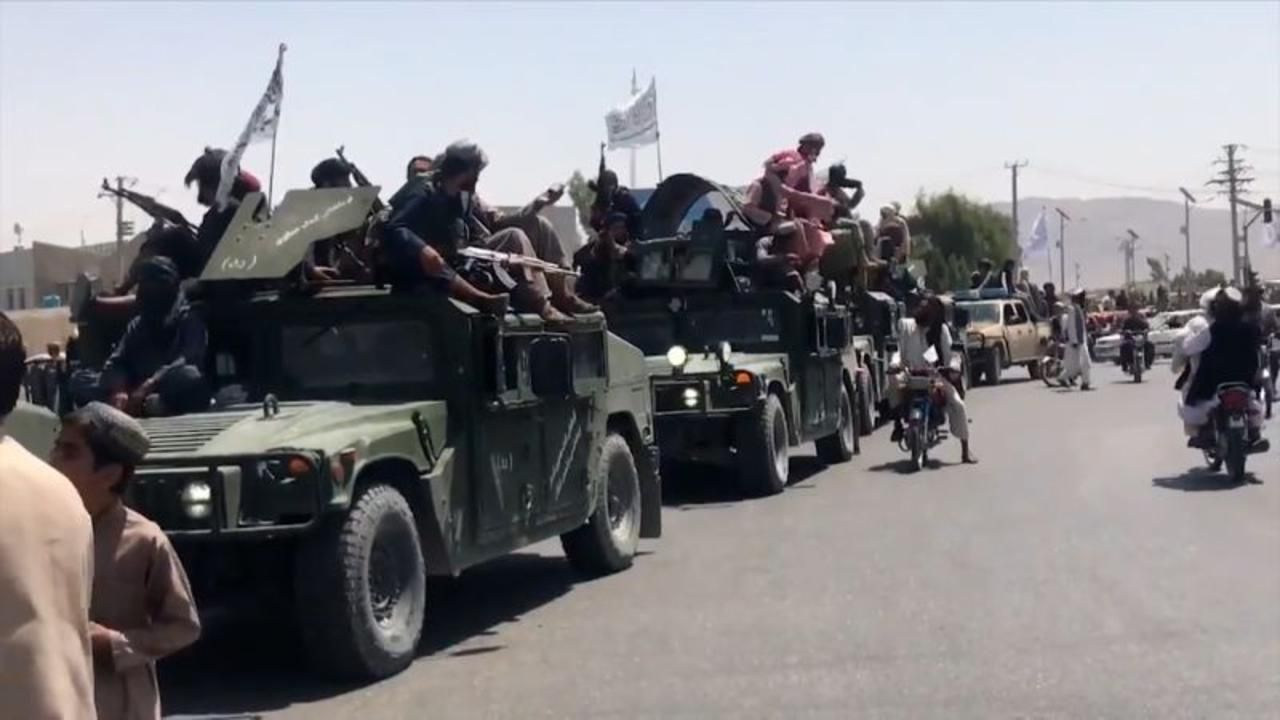 Video reportedly shows Taliban celebrating with military parade