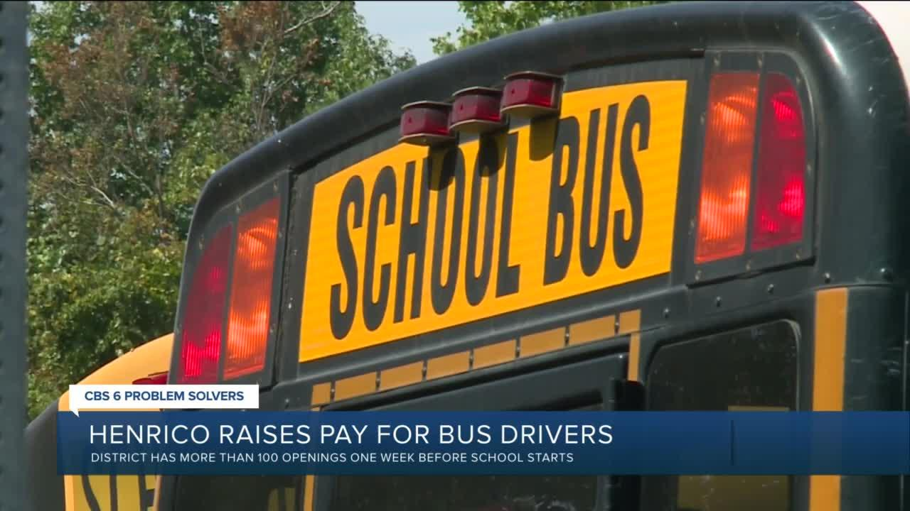 Why Henrico waited one week before school to raise bus driver pay