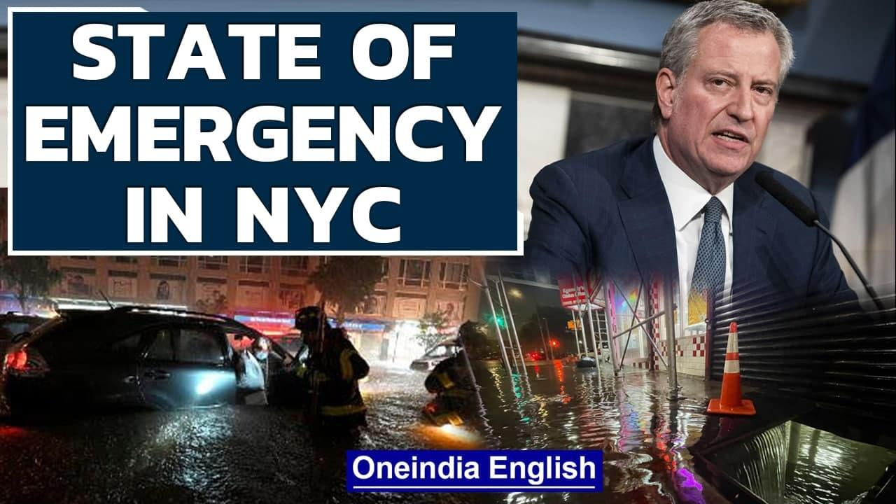NYC Mayor declares state of emergency due to floods & tornado threat | Hurricane Ida | Oneindia News
