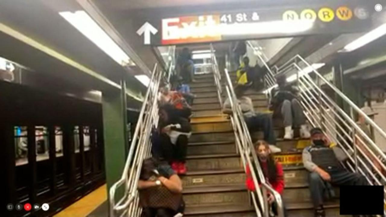 Subway riders stranded in Times Square as Ida drenches city