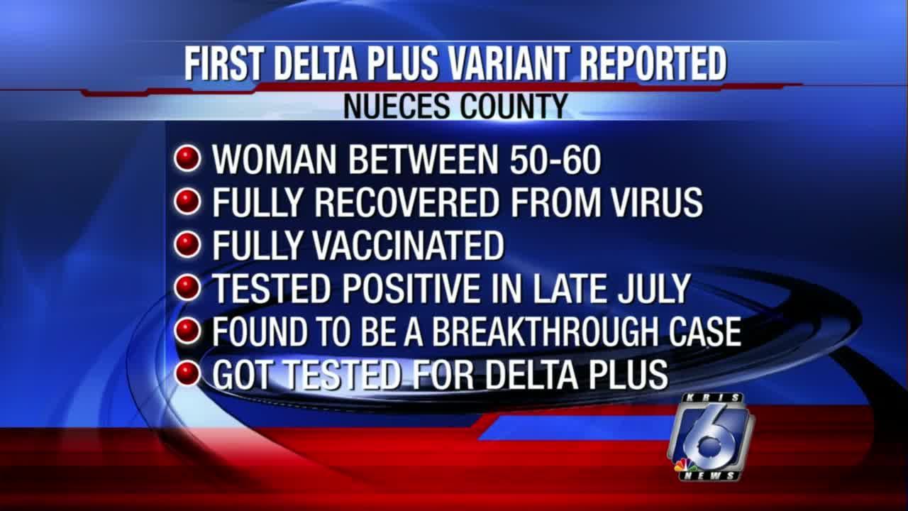 'Delta Plus' variant confirmed in Nueces County