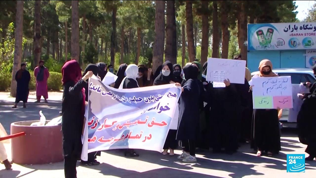 Afghan women rally for rights in western region