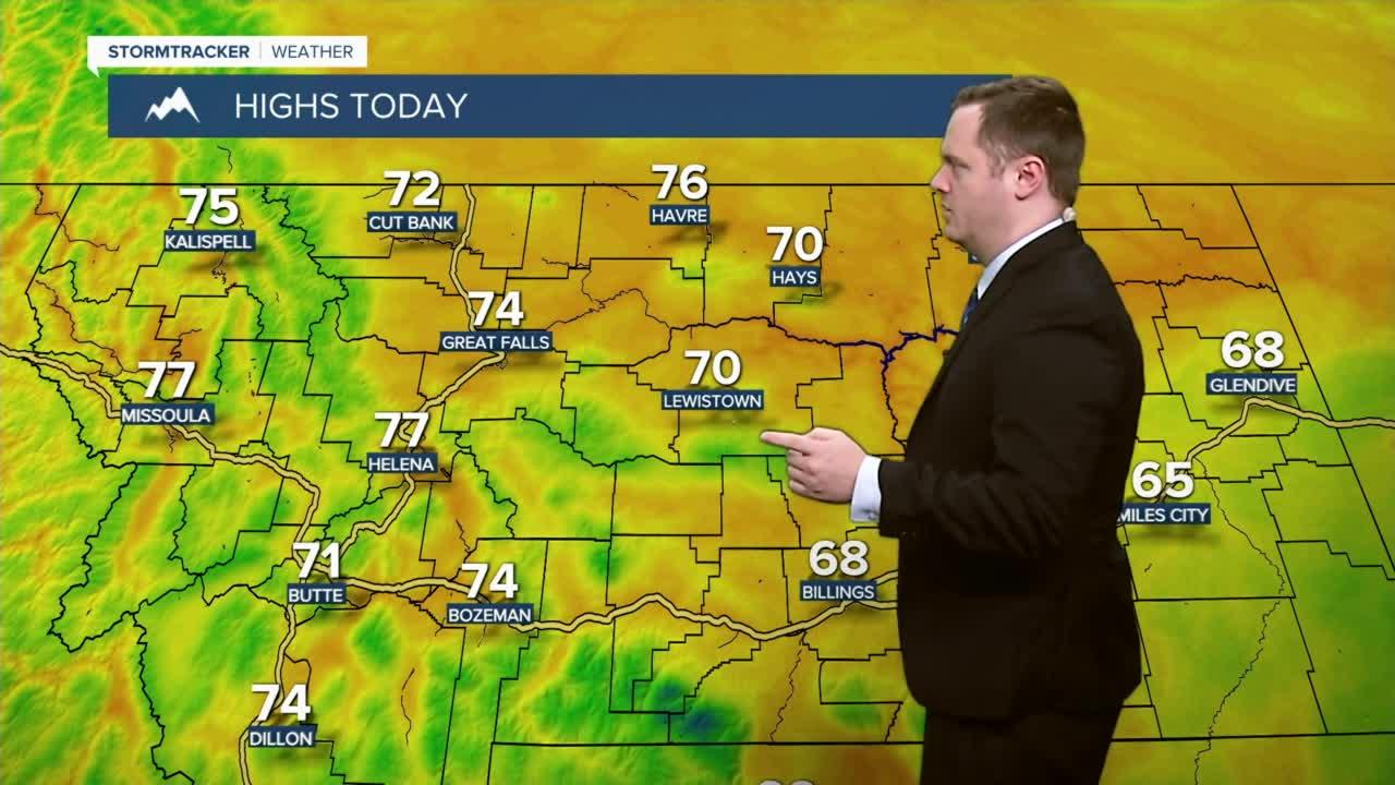 A very pleasant Friday with temperatures in the low to upper 70s.