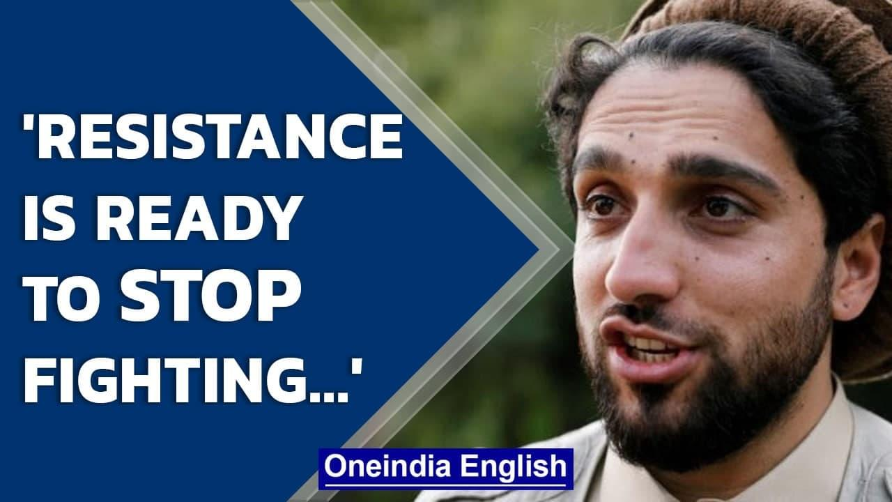 Ahmad Massoud asks for end of war through peaceful negotiations with the Taliban   Oneindia News