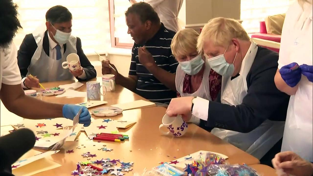 Johnson visits care home ahead of social care announcement