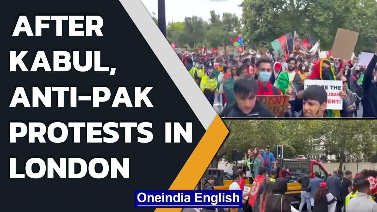 Afghans protest in London, demand sanction on Pakistan for proxy war | Oneindia News
