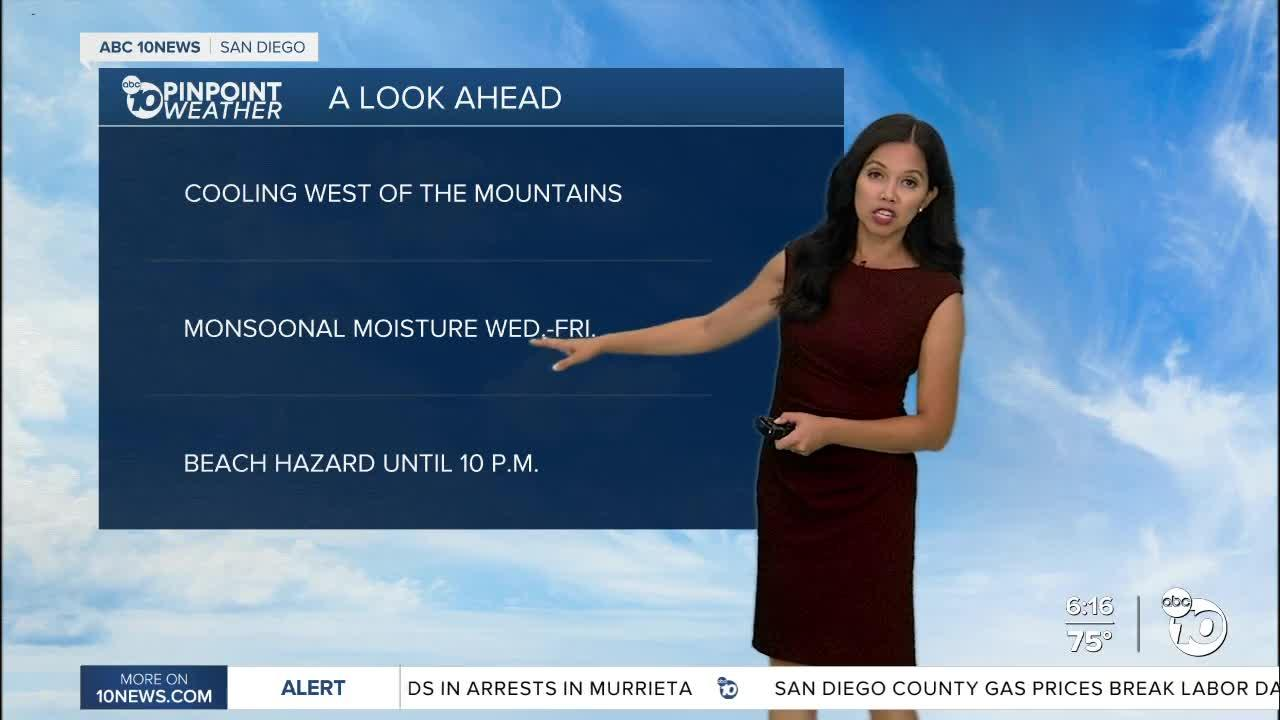 ABC 10News Pinpoint Weather for Mon. Sept. 6, 2021