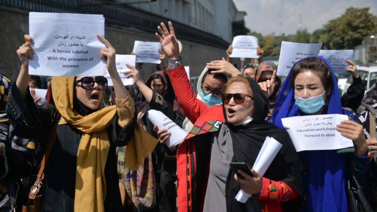 'We will not keep silent': female Afghan activist