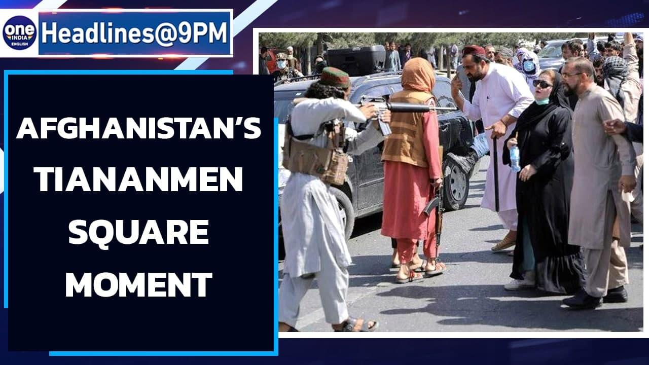 Taliban pull gun at protesting women, internet call it Afghan's Tiananmen Square   Oneindia News