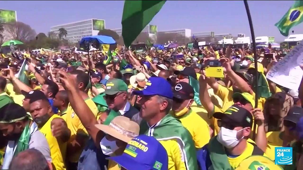 Bolsonaro attacks courts, elections at Brazil rallies