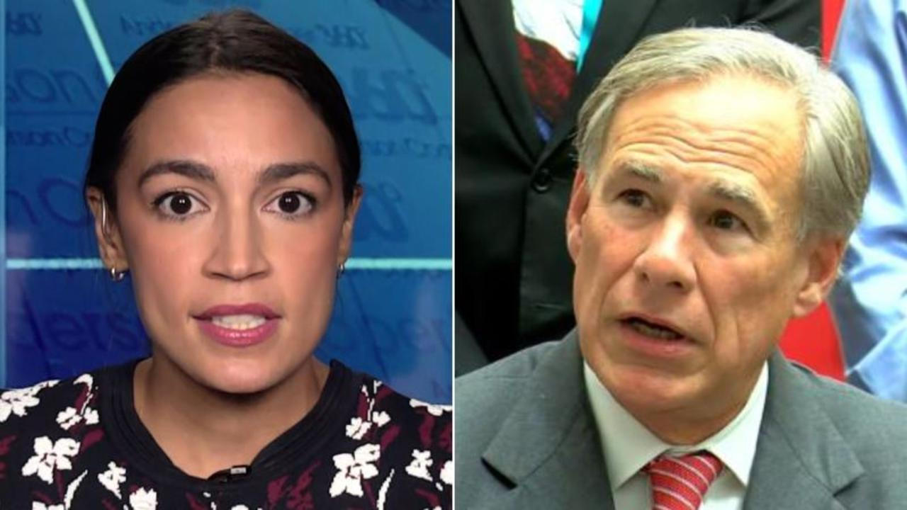 'Disgusting': Ocasio-Cortez reacts to Abbott's comments on rape victims