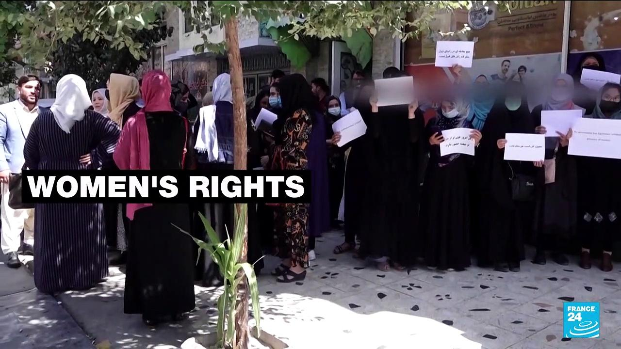 Afghan women protest against Taliban's all-male government