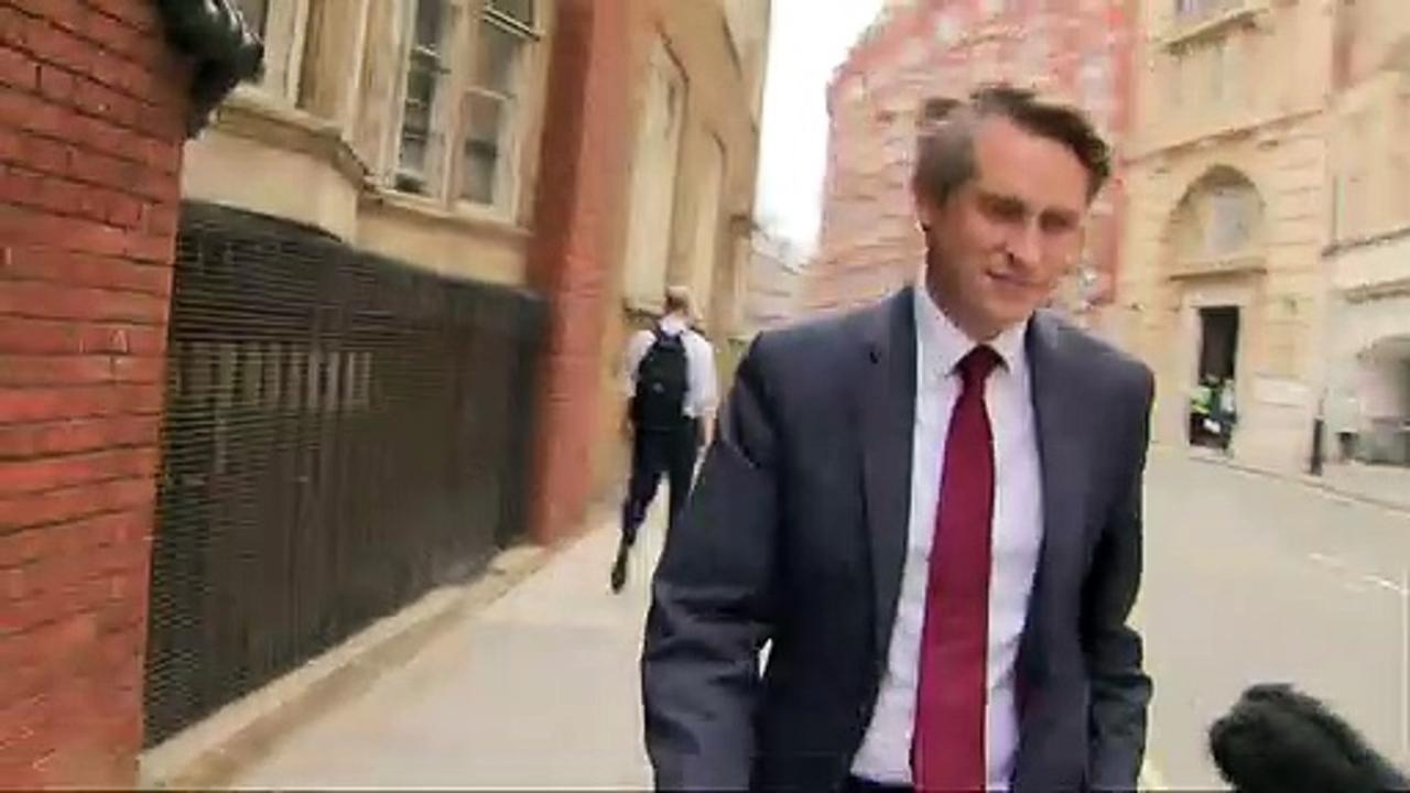 Gavin Williamson ignores questions over cabinet future