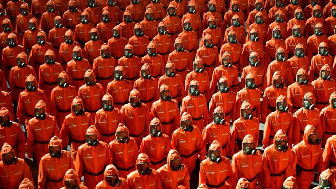 North Korean parade features 'emergency disease prevention unit'