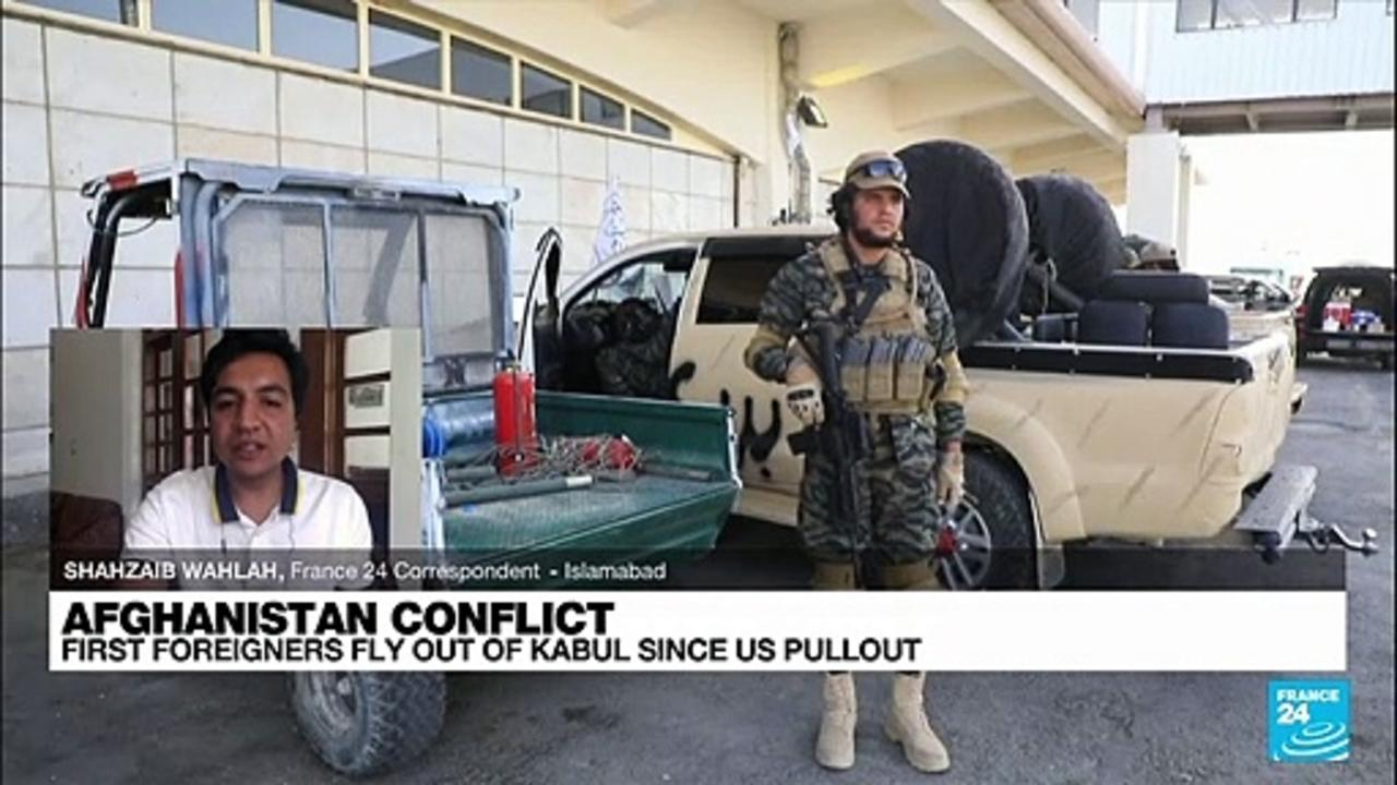 Flight takes about 200, including Americans, out of Kabul