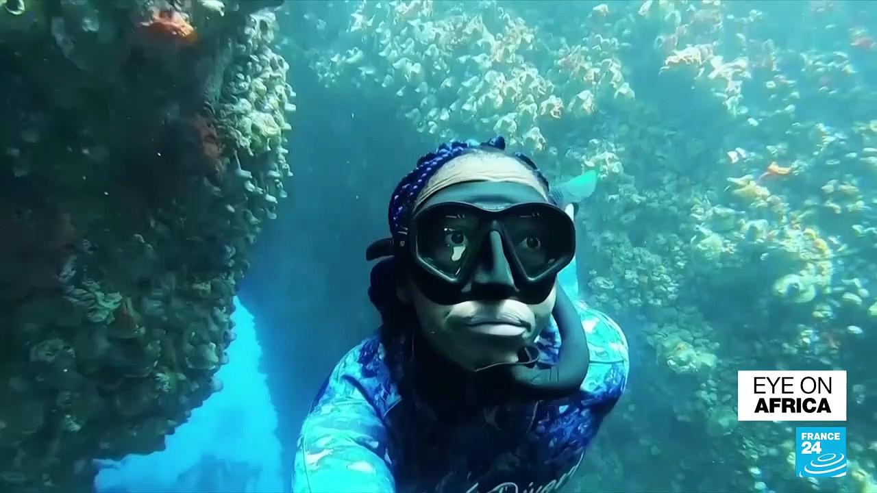S. Africa's first Black free diving coach opens the marine world to unprivileged