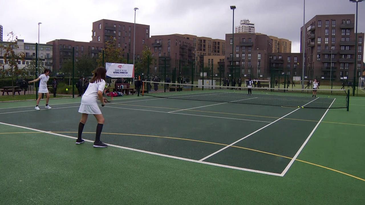 Young tennis players wish Emma Raducanu good luck