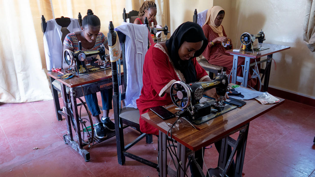Model Quits The Catwalk To Teach Women In Africa To Sew