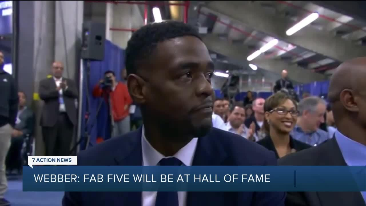 Webber says Fab Five will be together at Hall of Fame ceremony