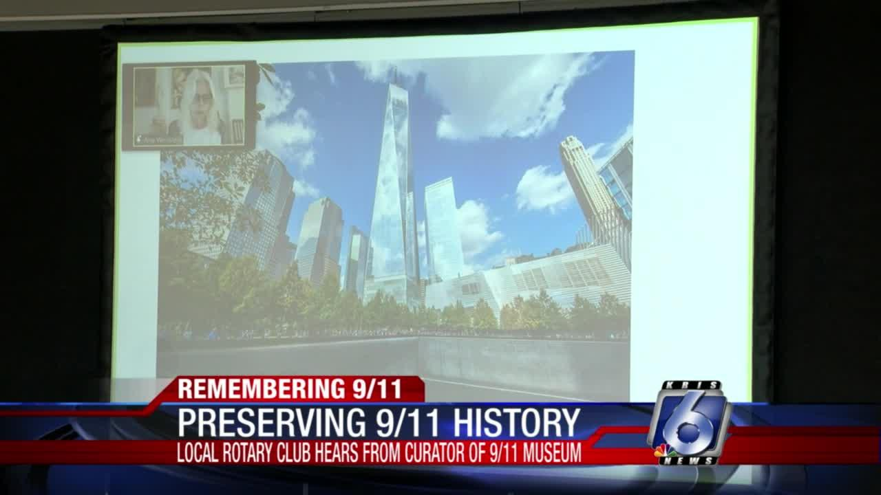 Curator of national 9-11 museum meets with Rotary Club