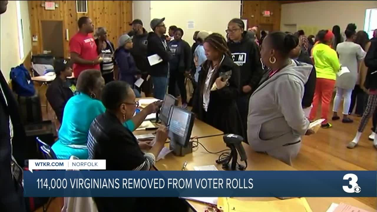 114,000 Virginians removed from voter rolls