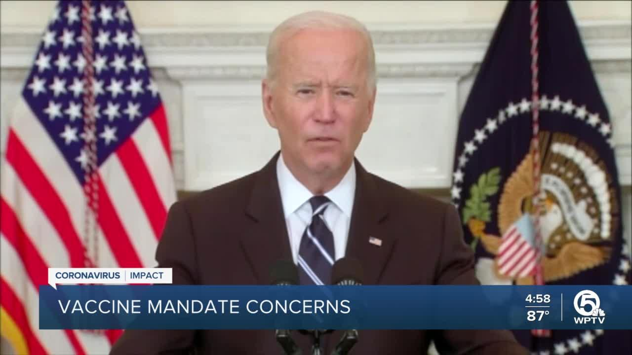 Questions surface about President Biden's vaccine mandate