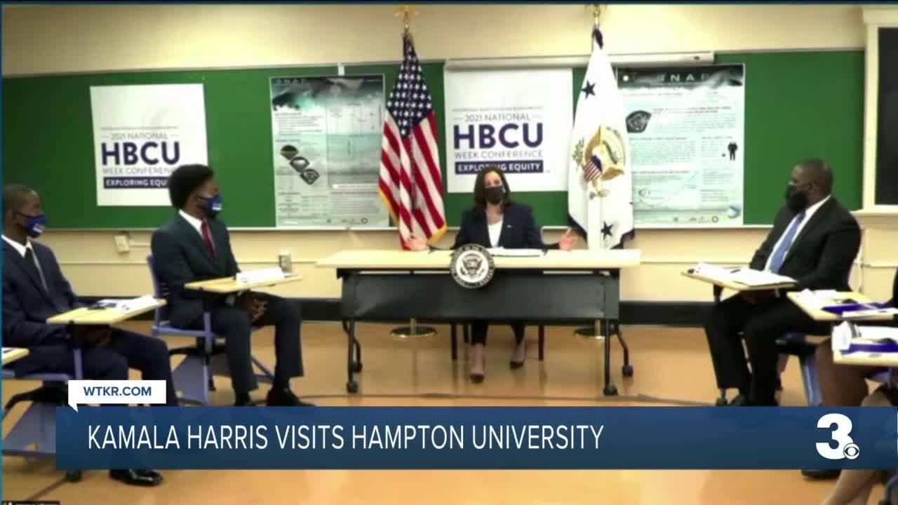 Vice President Kamala Harris visits Hampton University