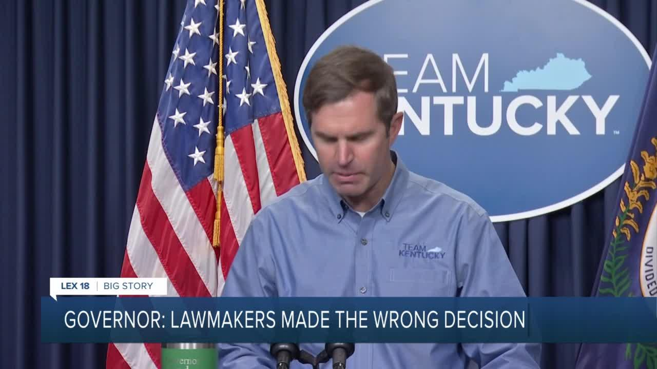 Governor: Lawmakers made the wrong decision