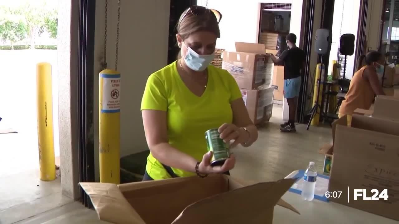 South Florida organizations come together to collect and pack disaster relief items for Haiti