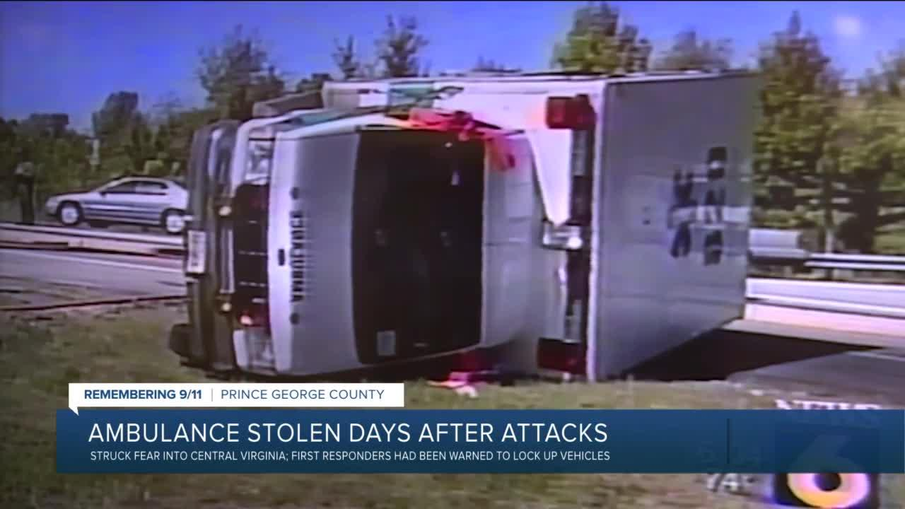 Virginia ambulance stolen days after 9/11 attacks: 'It changed my life'