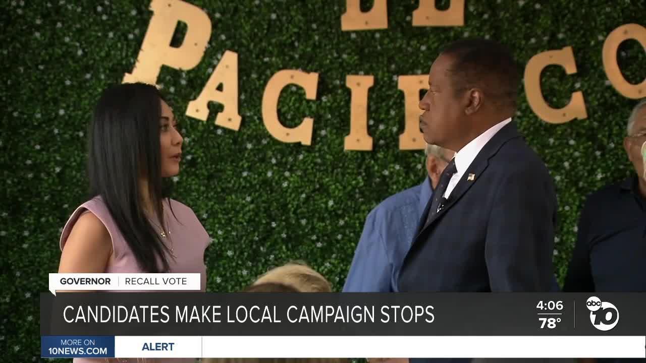 Gubernatorial candidates Cox, Elder campaign in San Diego