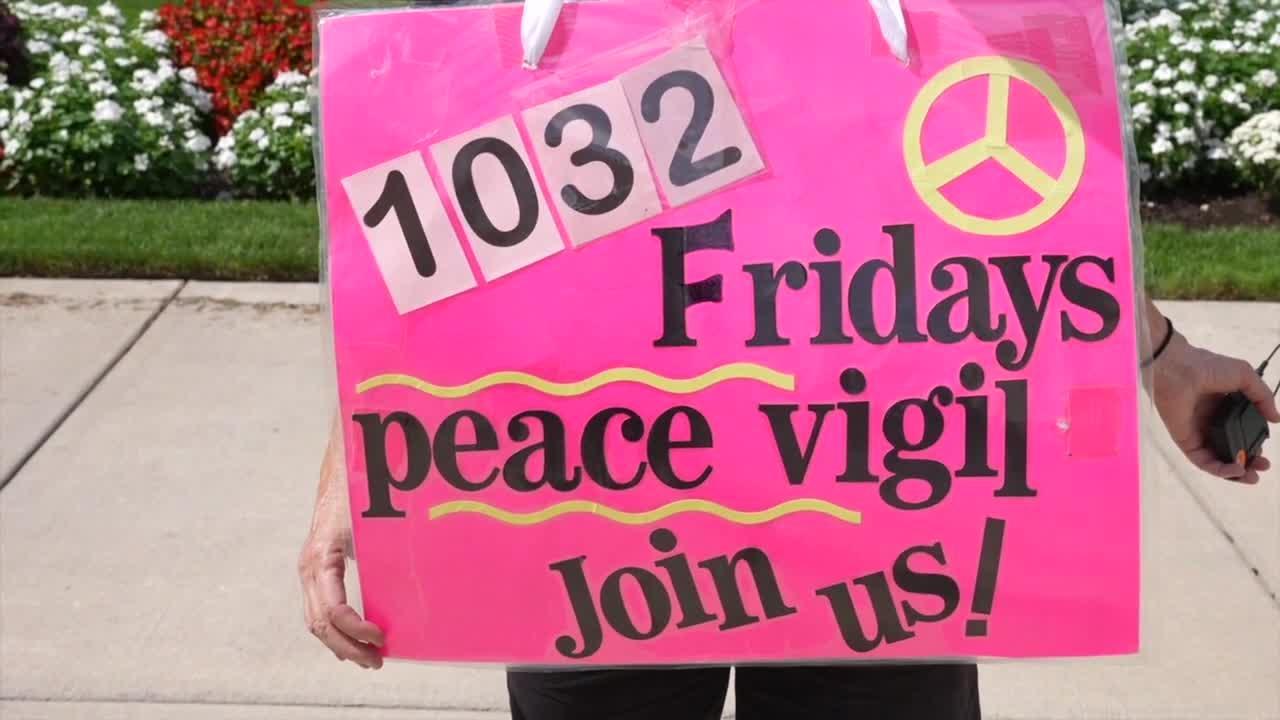 Weekly peace vigils since 911