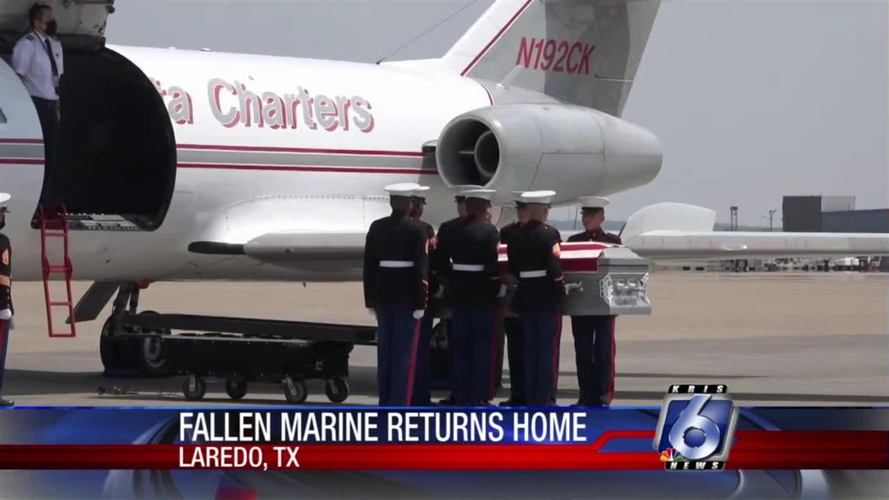 Remains of fallen Marine return to Texas after Kabul bombing