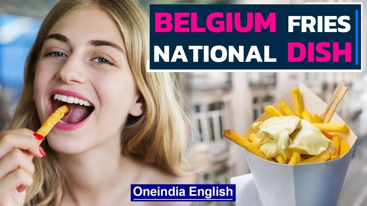 Belgium Fries served with Mayo Sauce the Best Fries in the World   Bon Appetit ! Oneindia News