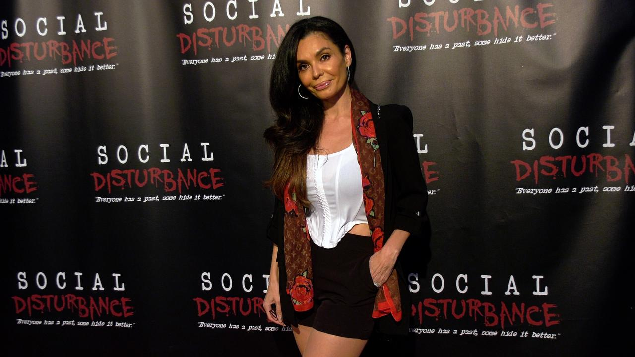 Actress Brenda Mejia attends the 'Social Disturbance' private screening red carpet in Los Angeles