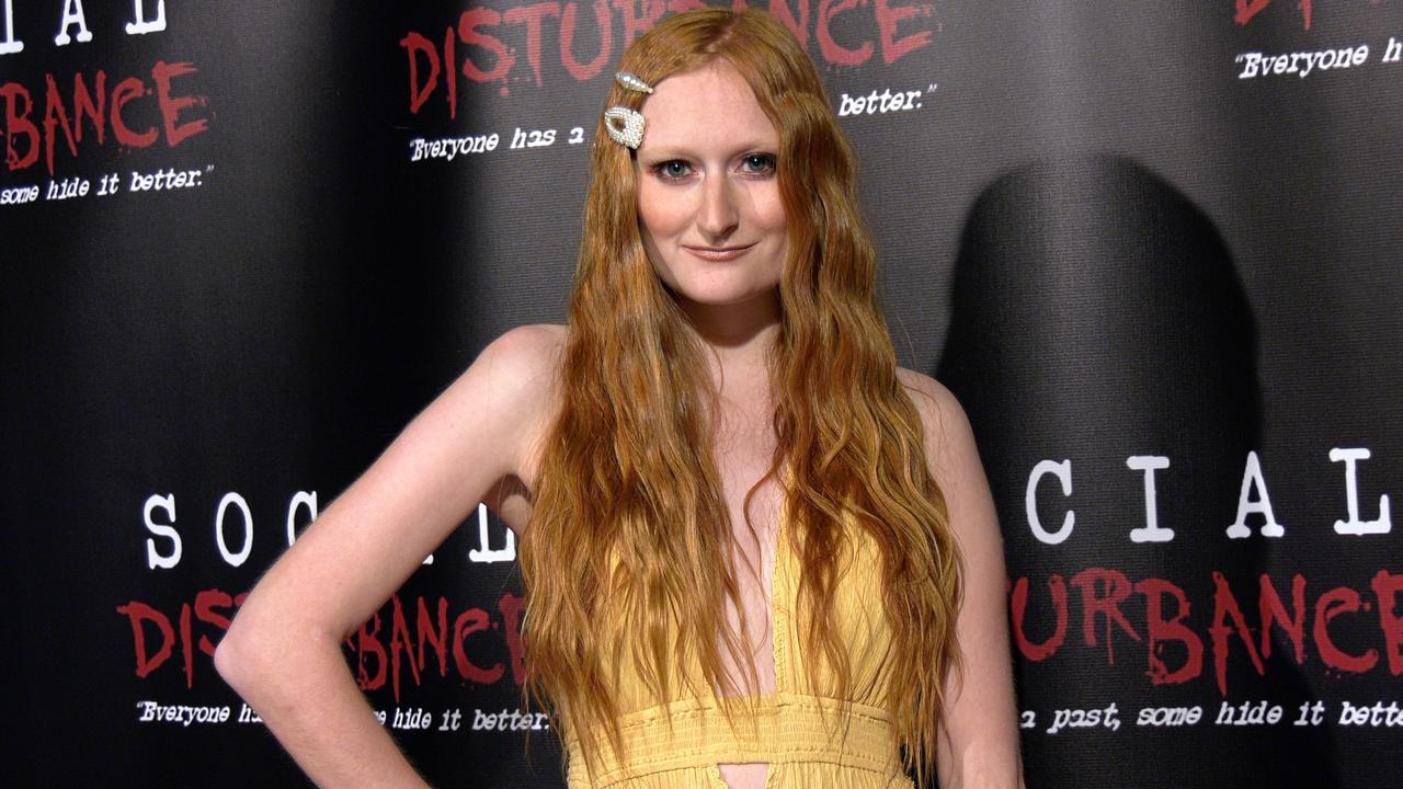 Actress Brianne Buishas attends the 'Social Disturbance' private screening red carpet in Los Angeles
